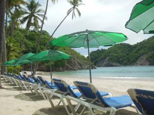 Costa Rica Beach Day on the island