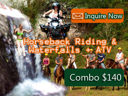 Horseback Riding Waterfalls + ATV